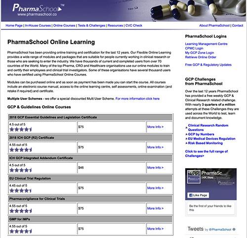 Online Courses – PharmaSchool Training